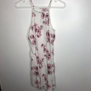 Pink white Floral Brandy Melville Tank Top Dress
